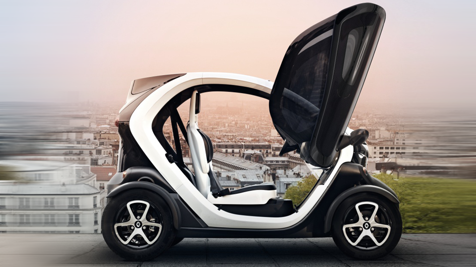 르노의 소형 전기차 '트위지', http://www.renault.co.uk/cars/electric-vehicles/twizy/