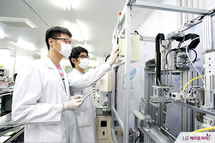 LG화학 일체형 폴리머 전지 기술