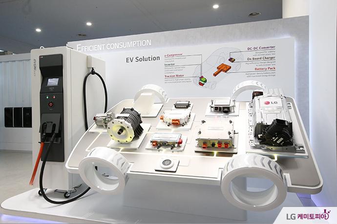 CEPSI 2014에 전시된 전기차 전용 배터리팩