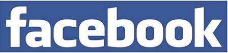 파란색 배경에 흰색 글씨로 'facebook '이라고 적힌 페이스북 마크가 보인다.