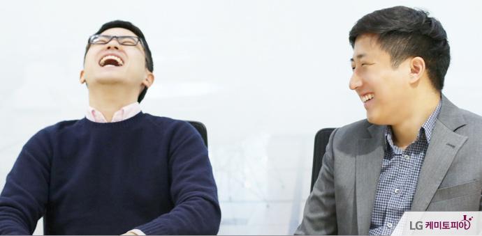 ESS 북미유럽마케팅팀 홍용준 대리와 임유석 사원