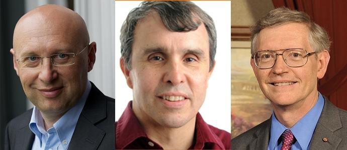2014년 노벨화학상 수상자 (왼쪽부터) 슈테판 헬, 에릭 베치그, 윌리엄 머너