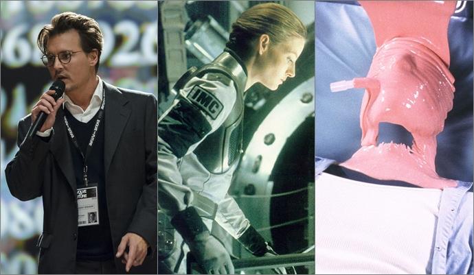 (왼쪽부터)과학자가 등장하는 영화 <트랜센던스>, <콘택트>, <할로우맨>, (출처: 네이버 영화)