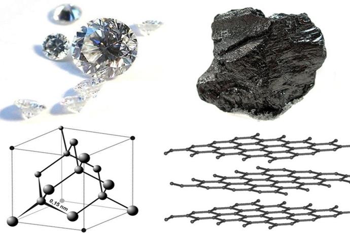 다이아몬드와 흑연의 결정구조 차이