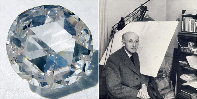 (좌)인조 다이아몬드, (우)발트자르 폰 플라텐