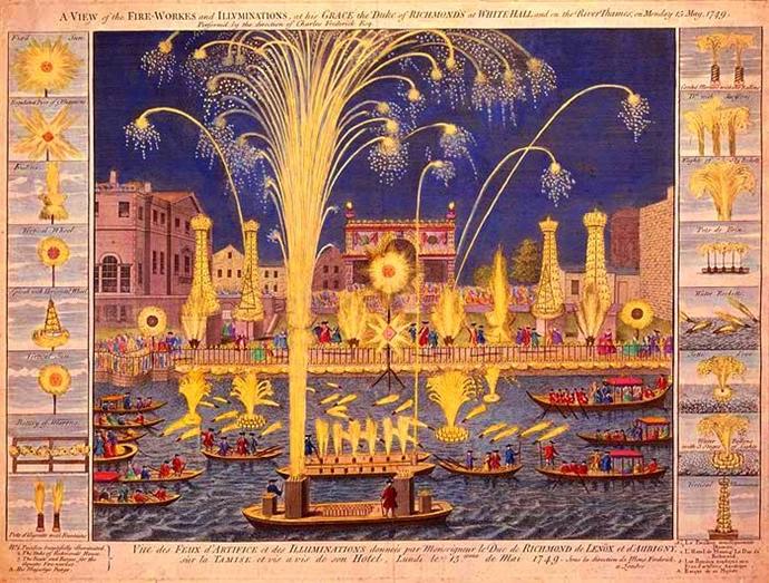 18세기 영국 왕실의 불꽃놀이