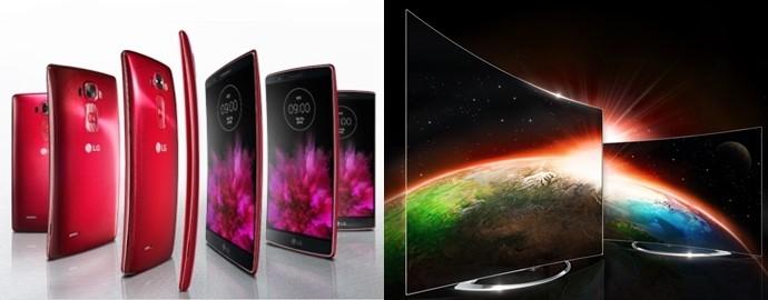 얇은 최신 스마트폰과 선명한 OLED TV