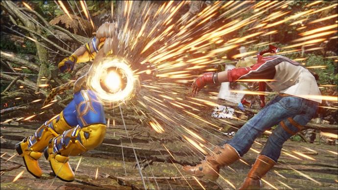 상대방의 공격을 받아도 끝까지 공격하는 '파워 크래쉬'의 발동 장면