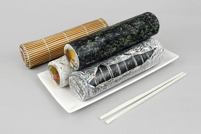김밥 모양의 필통