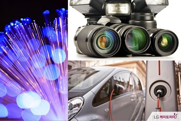 광섬유, 카메라 렌즈, 하이브리드 자동차