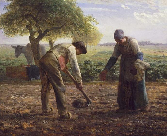 밀레의 감자 심는 사람 그림