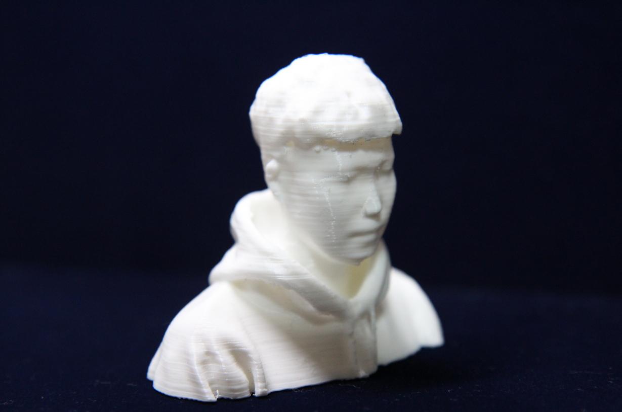 3D 프린터로 제작한 김관우 사원 얼굴