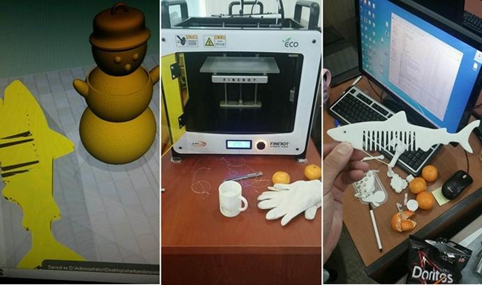 3D 프린팅으로 백상어 빗 만드는 과정