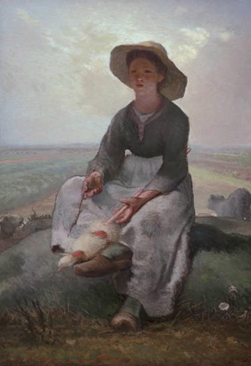 밀레의 양치기 소녀 그림