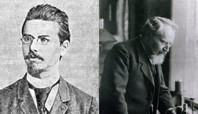(좌)프리드리히 라이니처와 (우)오토 레만