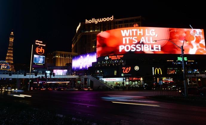 CES2014에서 선보인 LED 광고판