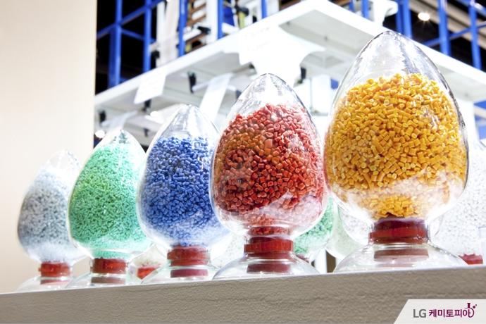 다양한 색깔의 플라스틱
