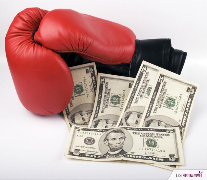 돈과 복싱 글로브