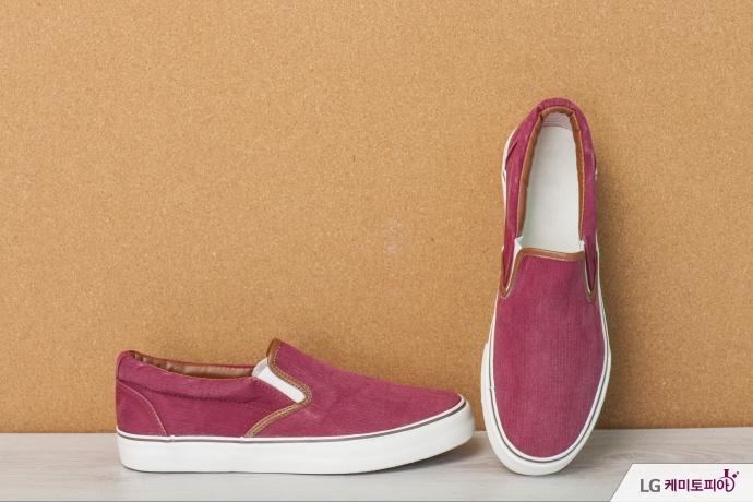 핑크색 슬립온 신발