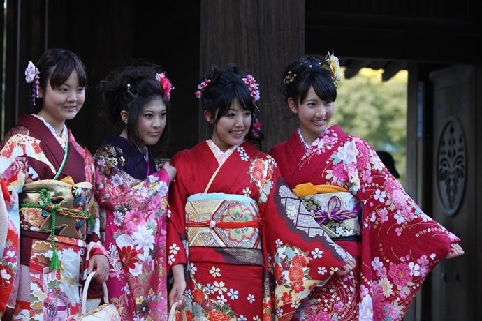 일본 성년의 날 풍경