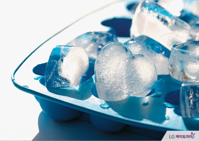 하트모양 얼음