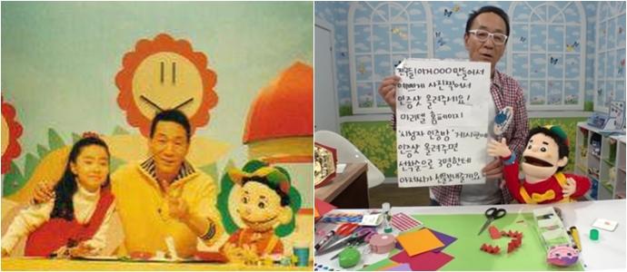 최근 TV에 다시 등장한 종이접기 아저씨의 모습 (왼쪽부터)ⓒ신세경 인스타그램, imbc.com