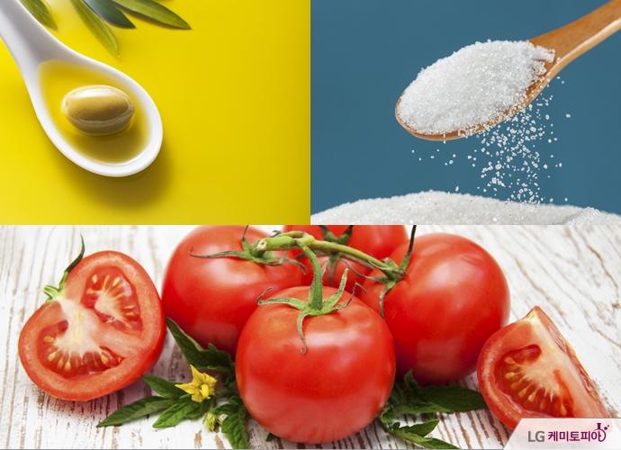 토마토의 최고의 궁합 올리브유, 최악의 궁합 설탕