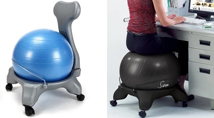 다양한 형태의 의자 겸용 짐볼(왼쪽부터)ⓒcyber international, sivan health and fit