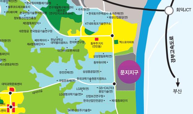 대덕연구개발특구 지도(https://dd.innopolis.or.kr)