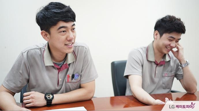김희진 사원과 최성민 사원