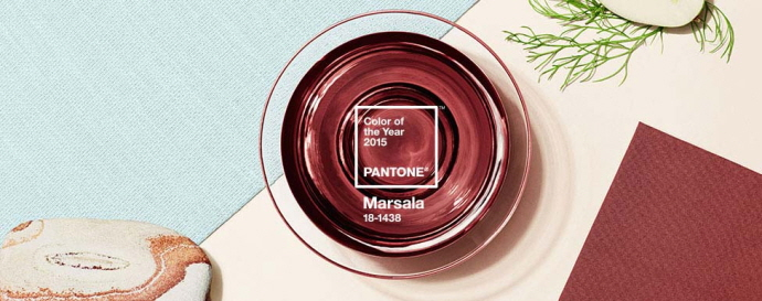 팬톤의 introducing marsala ⓒ pantone.com