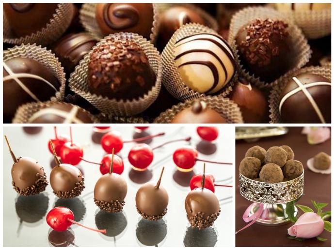 다양한 초콜릿 사진