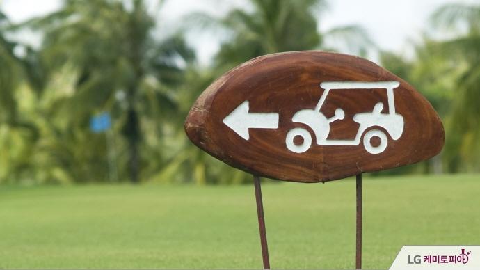 골프 카트 도로 표지판