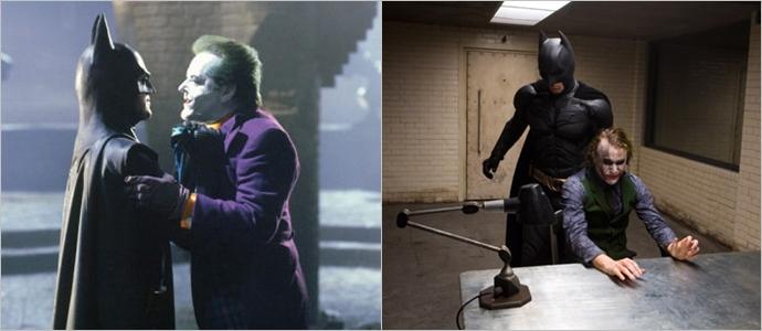 (왼쪽부터)오리지널 '배트맨'과 리부트된 '다크나이트'ⓒ네이버영화