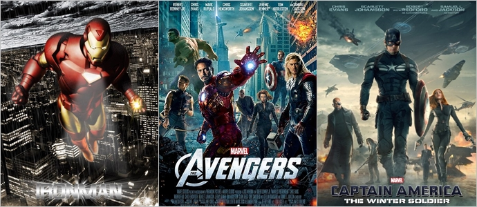 (왼쪽부터)'아이언맨', '어벤저스', '캡틴 아메리카'ⓒ네이버영화