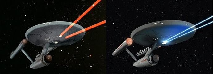 '스타트렉' 오리지널 시리즈 디지털 리마스터링 전(왼쪽)과 후(오른쪽)ⓒtech-ex.net