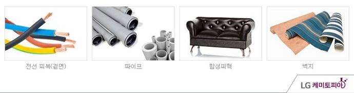 PVC 소재로 만든 제품들