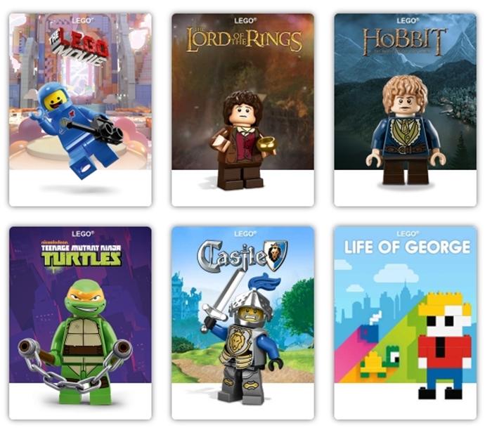 레고의 다양한 제품 시리즈Ⓒlego.com