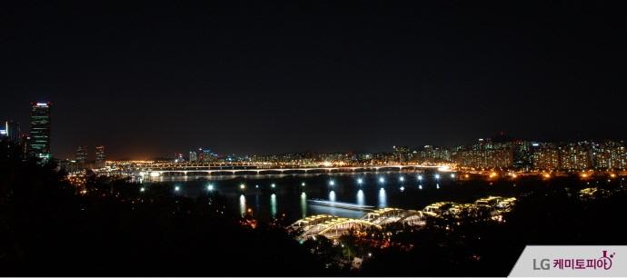 용봉정 근린공원에서 본 서울 야경