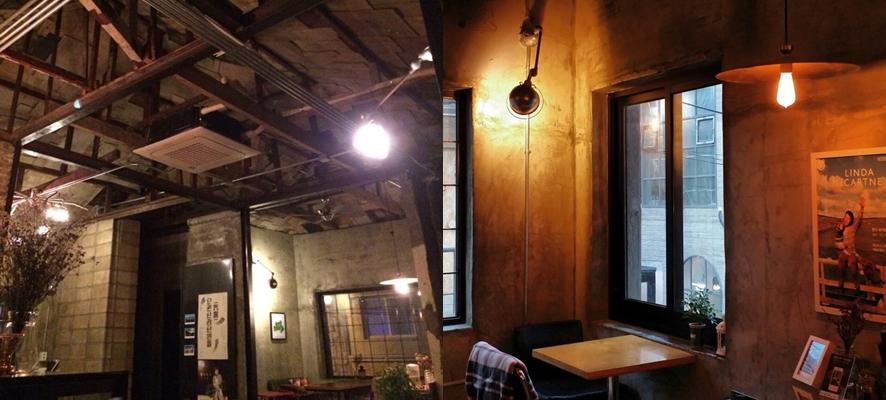 카페 그런지의 내부 공간