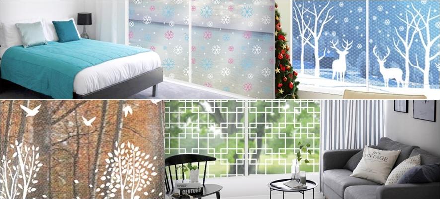 나무 무늬, 순록무늬, 창호지 무늬 등 다양한 무늬가 새겨져 있는 시중의 에어캡 제품들