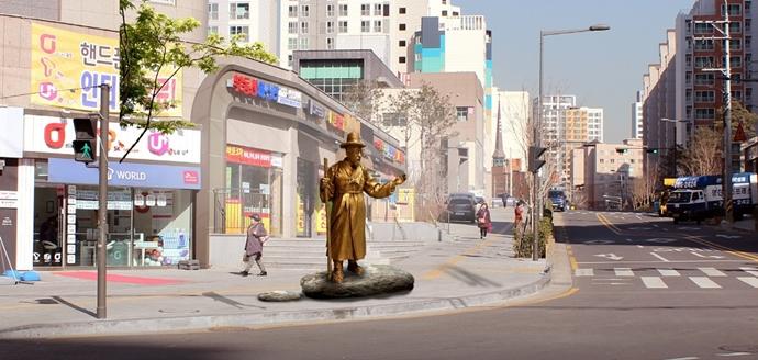 마포 용강동의 토정 이지함 동상