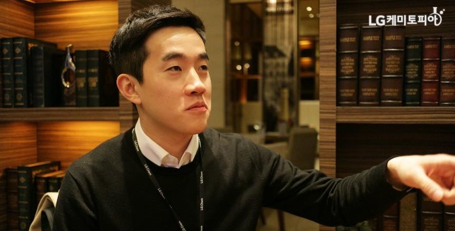 인터뷰에서도 적극성을 띄는 안준혁 사원