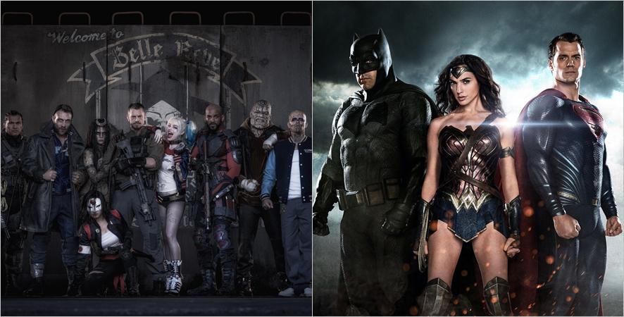 DC 개봉예정작 <수어사이드 스쿼드>, <배트맨 대 슈퍼맨>ⓒ네이버영화