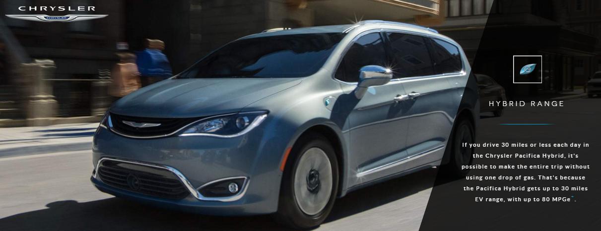 크라이슬러의 하이브리드 차량 사진