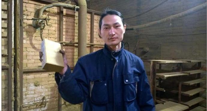 미세먼지로 만든 벽돌 (이미지 출처: 왕런정 씨 웨이보)