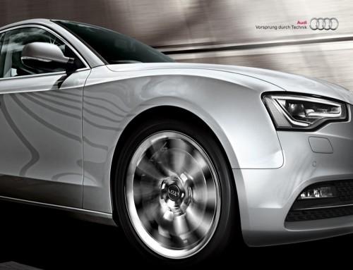 아우디 자동차 광고 사진