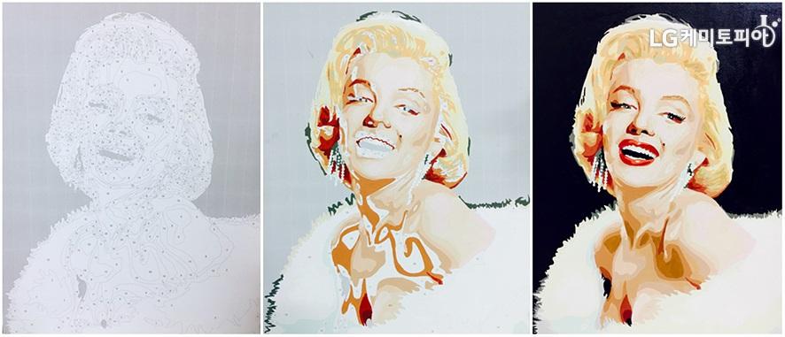 명화그리기- 마를린 먼로의 그림