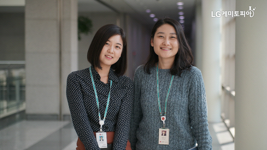 (좌) 특허개발팀 김다희 사원, (우) 특허분석팀 정에스더 대리