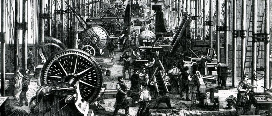 산업혁명 시대의 공장 모습 전경